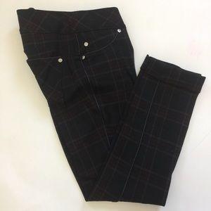 NYGUARD slims plaid skinny pants